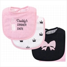 Hudson Baby Drooler Terry Bibs (3 pcs) (Daddy's Dinner Date) 56217CH -)