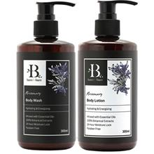 Bare For Bare Rosemary Body Wash and Body Lotion Set with Pure Essential Oil 3)