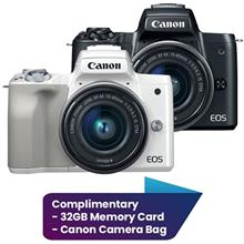 Canon EOS M50 Mirrorless Digital Camera with 15-45mm Lens Complimentary 32GB M)