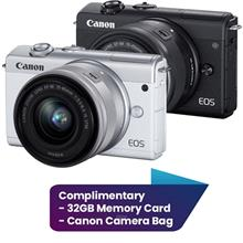 Canon EOS M200 Mirrorless Digital Camera with 15-45mm Lens Complimentary 32GB )