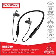 CLiPtec Bluetooth5.0 Flexible Neckband Magnetic Stereo Earphone BNE260