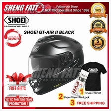 SHOEI GT-AIR 2 BLACK Full Face Helmet Motorcycle)