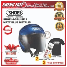 SHOEI J-CRUISE 2 MATT BLUE METALIC Motorcycle Helmet