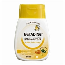 BETADINE Natural Defense Hand Sanitizer Manuka Honey 50ml