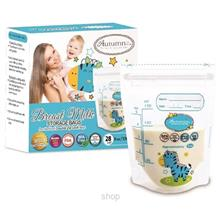 [Set of 3] Autumnz Double ZipLock Breastmilk Storage Bag (28 Bags) 5oz (Zebra)