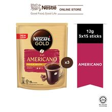 NESCAFE GOLD Americano 15sticks, 12g Bundle of 3