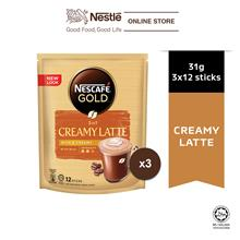 NESCAFE GOLD Creamy Latte 12sticks, 31g Bundle of 3