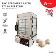 Pao Steamer 5 Layer Stainless Steel Fresco Dim Sum Steamer 1200w