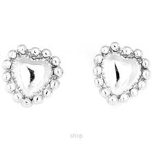 Poh Kong 9K White Gold Lovely Heartshape Earrings - 561016)