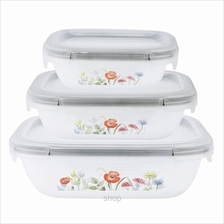 Corelle Snapware 6pcs Rectangular Airtight Storage Set Daisy Field - CSS-6-DSF