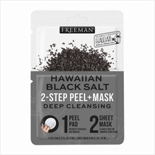 FREEMAN Hawaiian Black Salt Deep Cleansing 2Step Peel Mask 1s