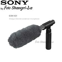 Sony ECM-VG1 Electret Condenser Shotgun Microphone + Furry Windscreen