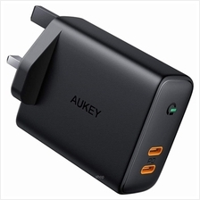 Aukey Focus Duo 36W Power Delivery Dual-Port PD USB C Charger with Dynamic Det)