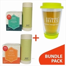 [BUNDLE] Rhymba Hills 400ml Double Wall Glass Mug + Tea Gassy to Go + Tea Lemo)