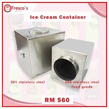 Tong Aiskrim Ice Cream Container Stainless Steel