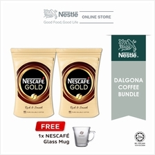 Nescafe Gold Dalgona Bundle Option 4, Free 1 Nescafe Mug