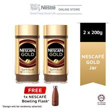 Nescafe Gold Jar 200g, Buy 2 Free Gold Flask