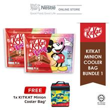 Nestle KITKAT 2F Mickey Love Chocolate Sharebag 8x17g Bundle of 2 Free Minion