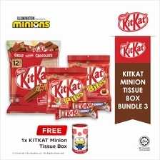 Nestle KITKAT Minion Tissue Box Chocolate Bundle 3