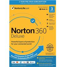 Norton 360 Deluxe 2020 - 1 Year 3 Devices Windows  Mac Android IOS