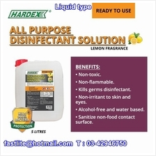 Hardex 5 Litre Disinfectant/Cleaning Liquid (Ready to use) x 4 Drums