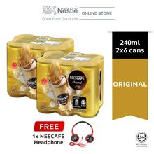 NESCAFE Original RTD 6 Cans 240ml Buy 2 Free Headsets)