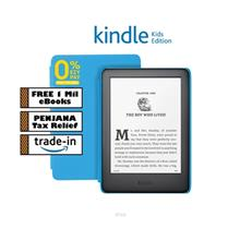 Kindle Kids Edition (10th Gen)– Blue Cover + Screen Protector + Free 20,000 )