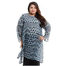 Jazz & Co Women Plus Size Long Sleeve tunic kurung in Mint
