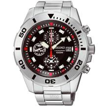 Seiko SNDD95P1 Gents Quartz Sports Stainless Steel Chronograph Watch)