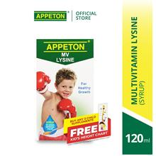 APPETON Multivitamin (MV) Lysine with Prebiotic Chewable Tablet (60's)