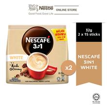 NESCAFE Blend and Brew White Coffee 15 Sticks 32g Each x2 packs