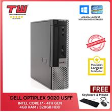 Dell Optiplex 9020 (USFF) / Core i7 4th Generation / 4GB RAM / 320GB H