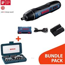 [BUNDLE]Bosch GO 2 Kit Smart Screwdriver (with 33pcs Accessories) - 06019H2181)