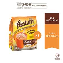 NESTLÉ NESTUM Grains  & More 3in1 Chocolate 15x28g, Bundle of 3