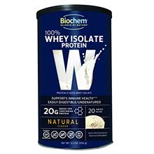 Biochem 100% Whey Isolate Protein - Natural Flavor - 12.3 oz - 20g of Protein