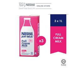 "NESTLE JUST MILKâ""¢ Full Cream 1L, x3 packs"