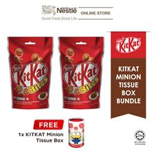 Nestle KITKAT Chocolate Bites 200g x2 packs, FREE Minion Tissue Box
