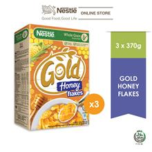 Nestle Gold Honey Flakes 370g x 3 Box