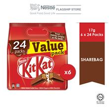 Nestle KITKAT 24 Packs Value Share bag, Bundle of 6