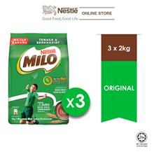NESTLE MILO ACTIV-GO CHOCOLATE MALT POWDER Softpack 2kgX3