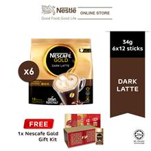 Nescafe Gold Dark Latte 12x31g, Free CNY Gift box