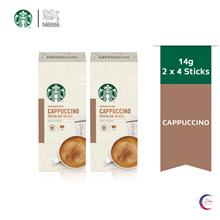 STARBUCKS® Cappuccino Premium Instant Coffee Mixes (4 Sticks/Box), Bundle of