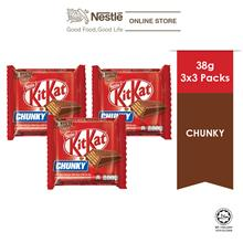 Nestle KITKAT CHUNKY 3bars x 38g, x3 packs