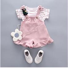 Baby Girl Kids Rabbit Short Sleeve Jumpsuit 2 PIECE - [PINK,XL(110CM)]