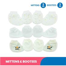 Mittens & Bootees (3 Pairs/ SET) 98-942 - Fiffy - Cotton Blend