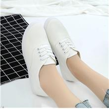 Women Canvas Running Sport Shoe Casual Strappy Sneakers - [WHITE,36]