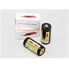2 piece EFest 16340 850mAh 3.7V lithium-ion battery