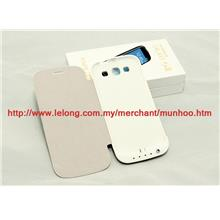 Samsung Galaxy S3 3200mAh Powerbank Battery Casing Charger White Case