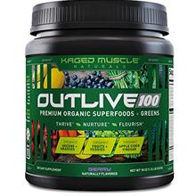 Kaged Muscle Outlive 100 Organic Superfoods and Greens Powder with Apple Cider