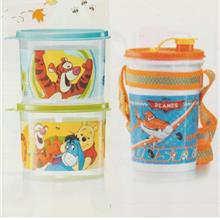 Tupperware Winnie The Pooh Canister (2) & Planes Handolier (1) 1L